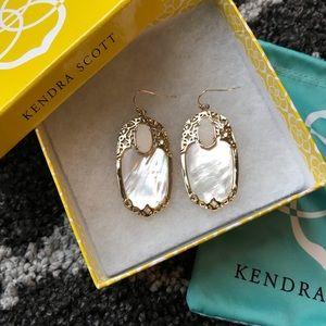 Kendra Scott Gold Statement Earrings